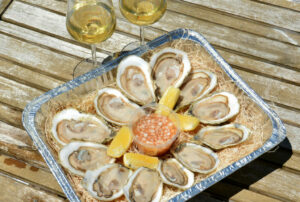 Fresh Shucked Oyster with lemon