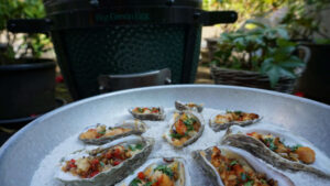 Rockefeller Oysters on a plate