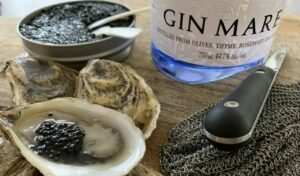 Oysters and caviar and Gin Mare